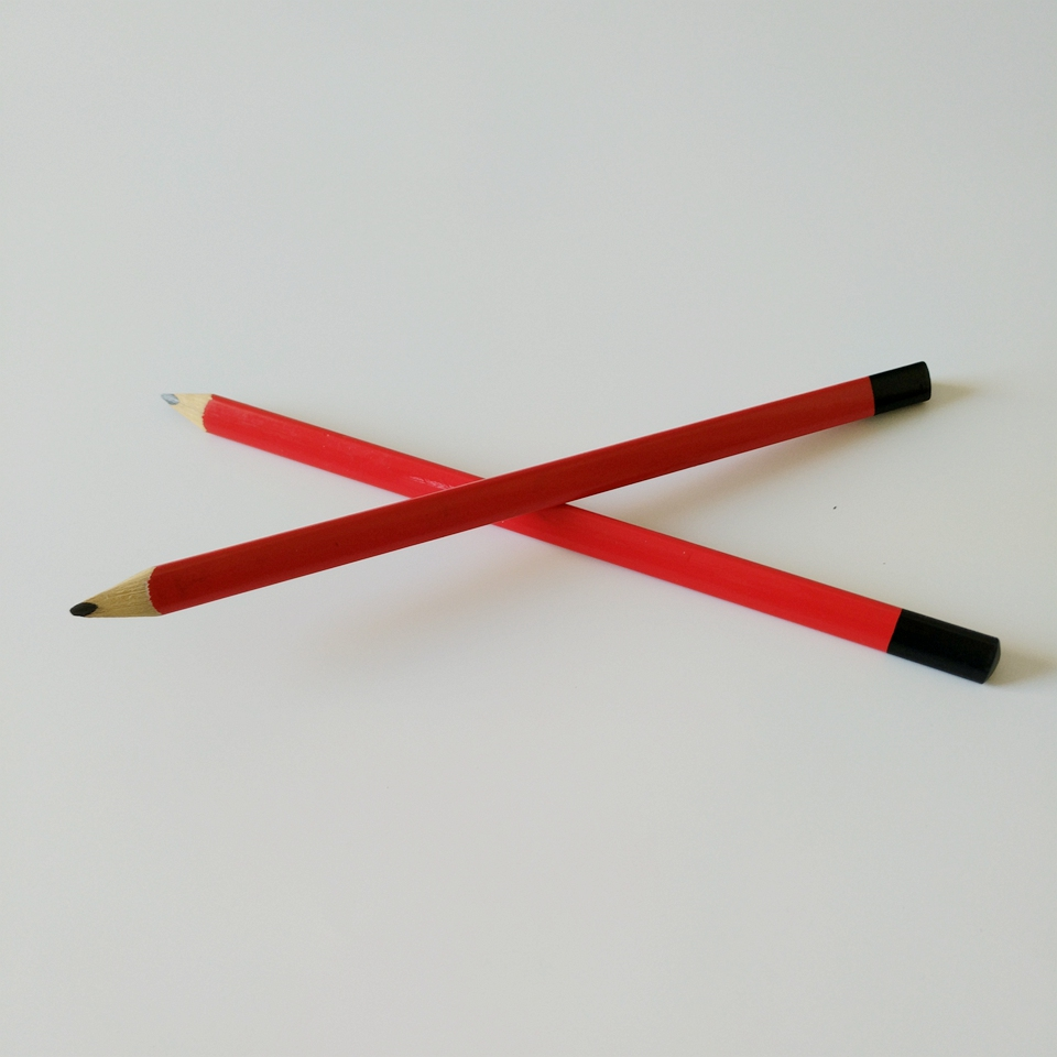 German quality triangular shape wooden Carpenter pencil