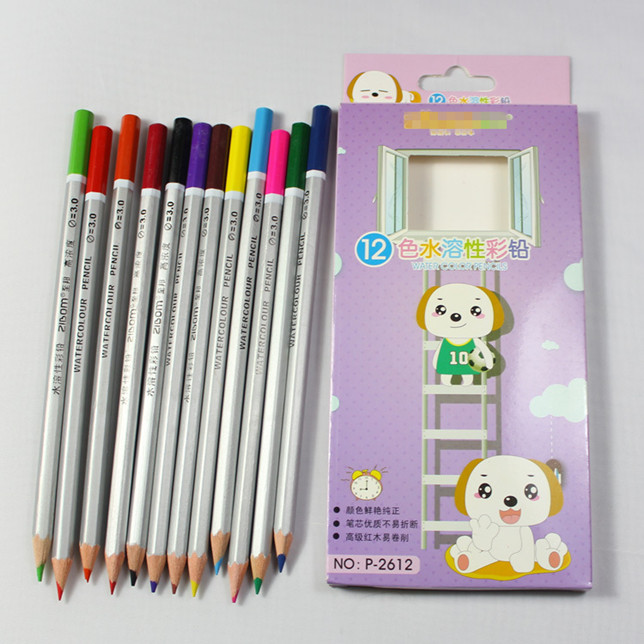 12 pcs Water Color Pencil for Kids