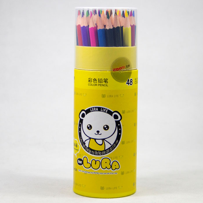 48pcs color pencil in paper tube